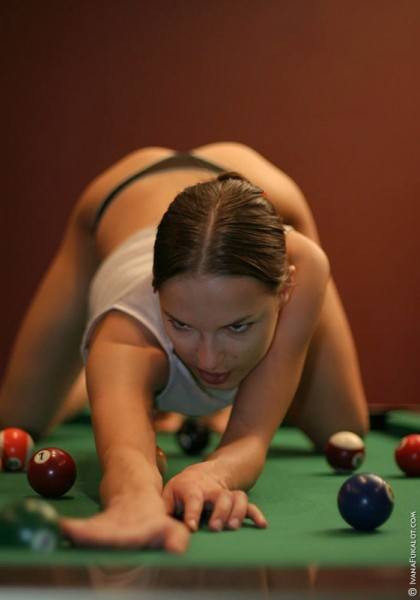 Naked Ivana Fukalot on pooltable 1