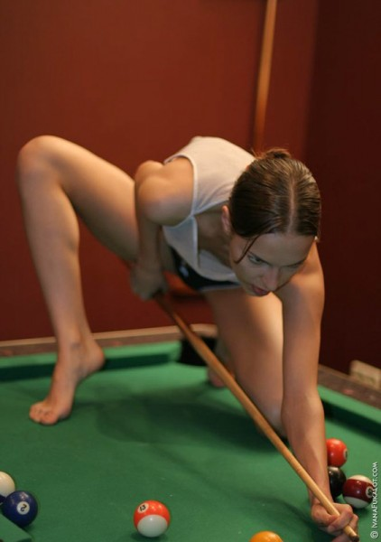 Naked Ivana Fukalot on pooltable 2